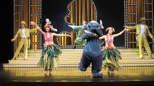 Stitch dancing Hawaiian