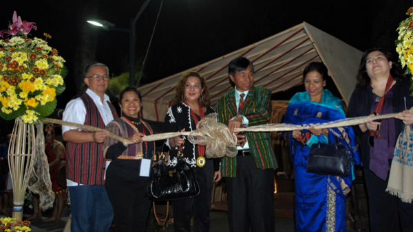 DOT-CAR Regional Director Marie Venus Tan (second from left), UNESCO Philippines Secretary-General Lilia Ramos-Shahani (third from left), and Baguio City Mayor Mauricio Domogan (fourth from left) led the ribbon cutting of the Creative Baguio, an exhibition hub showcase of crafts and folk arts